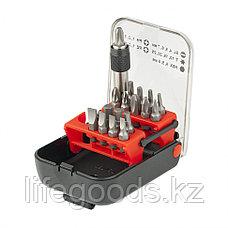 Набор бит, адаптер для бит, сталь S2, 18 предметов, пластиковый кейс Matrix Master 11316, фото 2