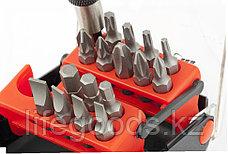 Набор бит, адаптер для бит, сталь S2, 18 предметов, пластиковый кейс Matrix Master 11316, фото 3