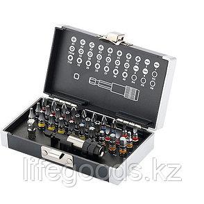 Набор бит, магнитный адаптер, сталь S2, пластиковый кейс, 32 предмета Gross 11363, фото 2