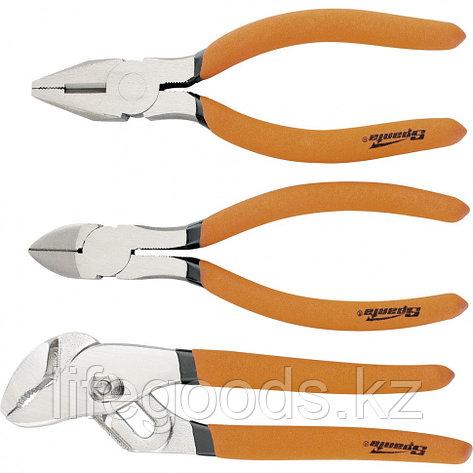 Набор губцевого инструмента №2, 3 предмета: плоскогубцы, бокорезы, клещи переставные Sparta 13545, фото 2