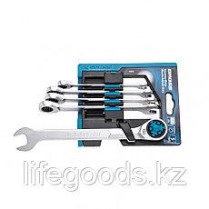Набор ключей комбинированных трещоточных, количество зубьев 100, СRV, 5 шт, 8- 17 мм Gross 14858, фото 3