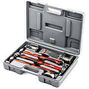 Набор рихтовочный, 3 молотка с фибергласовыми ручками, 4 наковальни, пластиковый бокс Matrix 10845