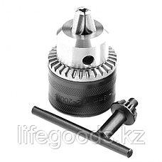 Патрон для дрели ключевой, 3-16 мм, 1/2 Сибртех 168267, фото 3