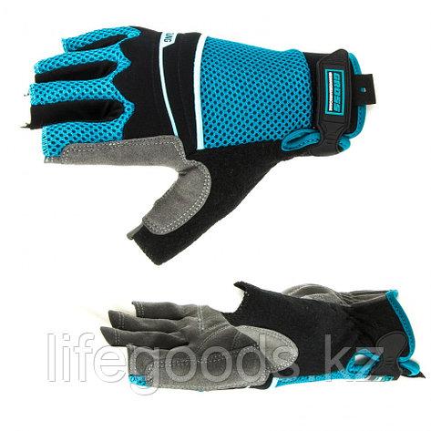 Перчатки комбинированные облегченные, открытые пальцы, Aktiv, М Gross 90315, фото 2