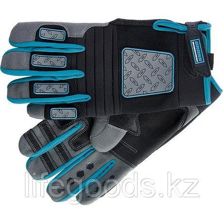 Перчатки универсальные комбинированные DeLuxe, XL Gross 90334, фото 2