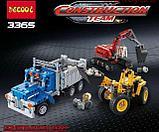Конструктор Decool Technic Строительная команда 3365 (Аналог LEGO Technic 42023) 834 дет, фото 3