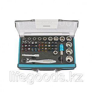 Трещотка с набором бит и торцевых головок, адаптер и удлинитель, 49 шт., S2 Gross 11600, фото 2