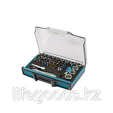 Трещотка с набором бит и торцевых головок, адаптер и удлинитель, 49 шт., S2 Gross 11600, фото 3