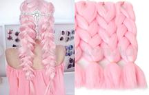 Канекалон накладные волосы одноцветные 60 см Светло розовый А16