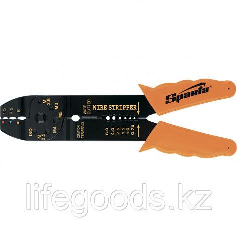 Щипцы, 210 мм, для зачистки электропроводов и обжима контактных кле мм, 1,5-6,5 мм Sparta 177505, фото 2