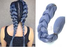 Канекалон накладные волосы одноцветные 60 см Бледно васильковый А33
