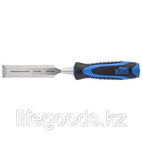 Долото-стамеска, плоская, 24 мм, двухкомпонентная рукоятка, металлический затыльник Барс 24649, фото 2