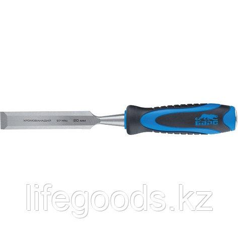 Долото-стамеска, плоская, 8 мм, двухкомпонентная рукоятка, металлический затыльник Барс 24633, фото 2