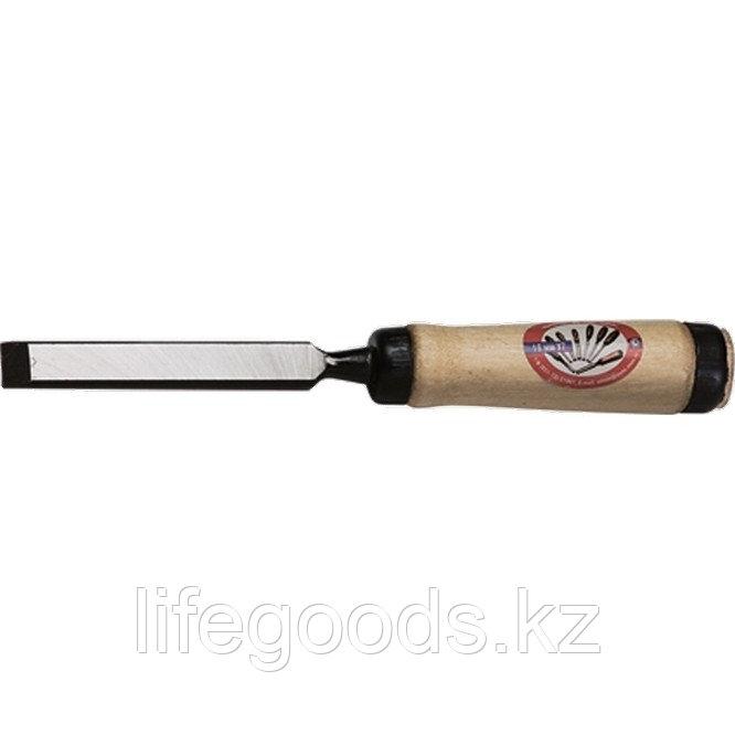 """Долото-Стамеска, плоская, 8 мм, деревянная рукоятка """"Арефино"""" Россия 24245"""