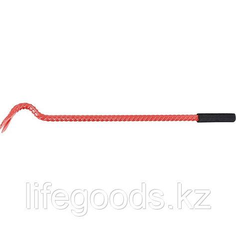 Лом-гвоздодер арматурный, 500 мм, арматурный, D 17 мм, резиновая ручка Россия 25277, фото 2