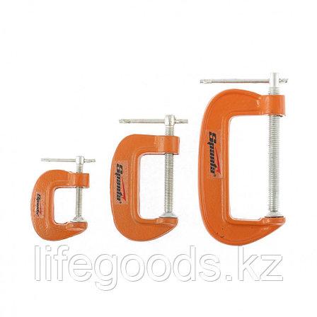 Набор: струбцины G-образные, 3 шт, 25-50-75 мм Sparta 206755, фото 2