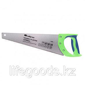 """Ножовка по дереву """"Зубец"""", 350 мм, 7-8 TPI, каленый зуб 2D, двухкомпонентная рукоятка Сибртех, фото 2"""
