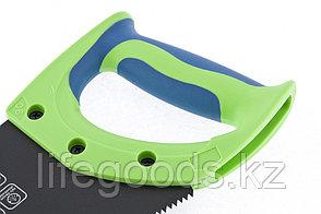 """Ножовка по дереву """"Зубец"""", 350 мм, 7-8 TPI, каленый зуб 2D, защитное покрытие, двухкомпонентная рукоятка, фото 2"""