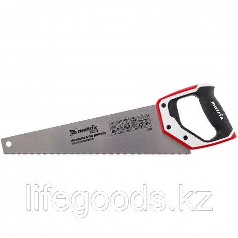 Ножовка по дереву для точных пильных работ, 400 мм, каленый зуб 3D, 14 TPI, трехкомпонентная рукоятка, Pro Matrix, фото 2