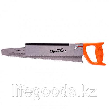 Ножовка по дереву, 350 мм, 5 сменных полотен, пластиковая рукоятка Sparta, фото 2