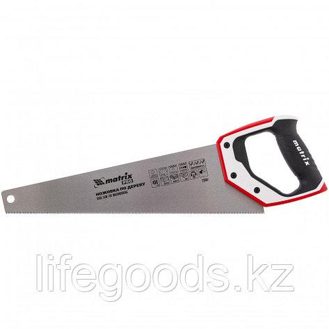 Ножовка по дереву, 400 мм, каленый зуб 3D, 11-12 TPI, трехкомпонентная рукоятка, Pro Matrix, фото 2