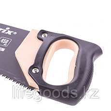 Ножовка по дереву, 450 мм, 7-8 TPI, зуб-3D, каленный зуб, тефлоновое покрытие, деревянная рукоятка Matrix, фото 2