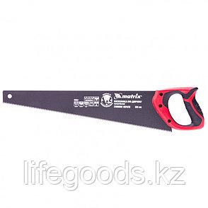 Ножовка по дереву, 500 мм, 7-8 TPI, зуб-3D, каленый зуб, тефлоновое покрытие полотна, двухкомпонентная рукоятка Matrix, фото 2