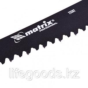 Ножовка по пенобетону, 700 мм, защитное покрытие, твердосплавные напайки на зубья, двухкомпонентная рукоятка Matrix, фото 2