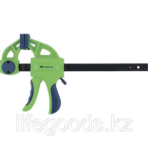 Струбцина F-образная, быстрозажимная, 450 х 70 х 660 мм, пластиковый корпус, фиксатор, двухкомпонентная рукоятка Сибртех, фото 2