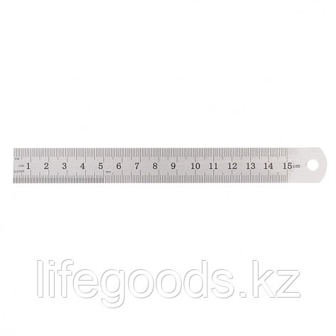 Линейка измерительная, 150 мм, металлическая Sparta, фото 2