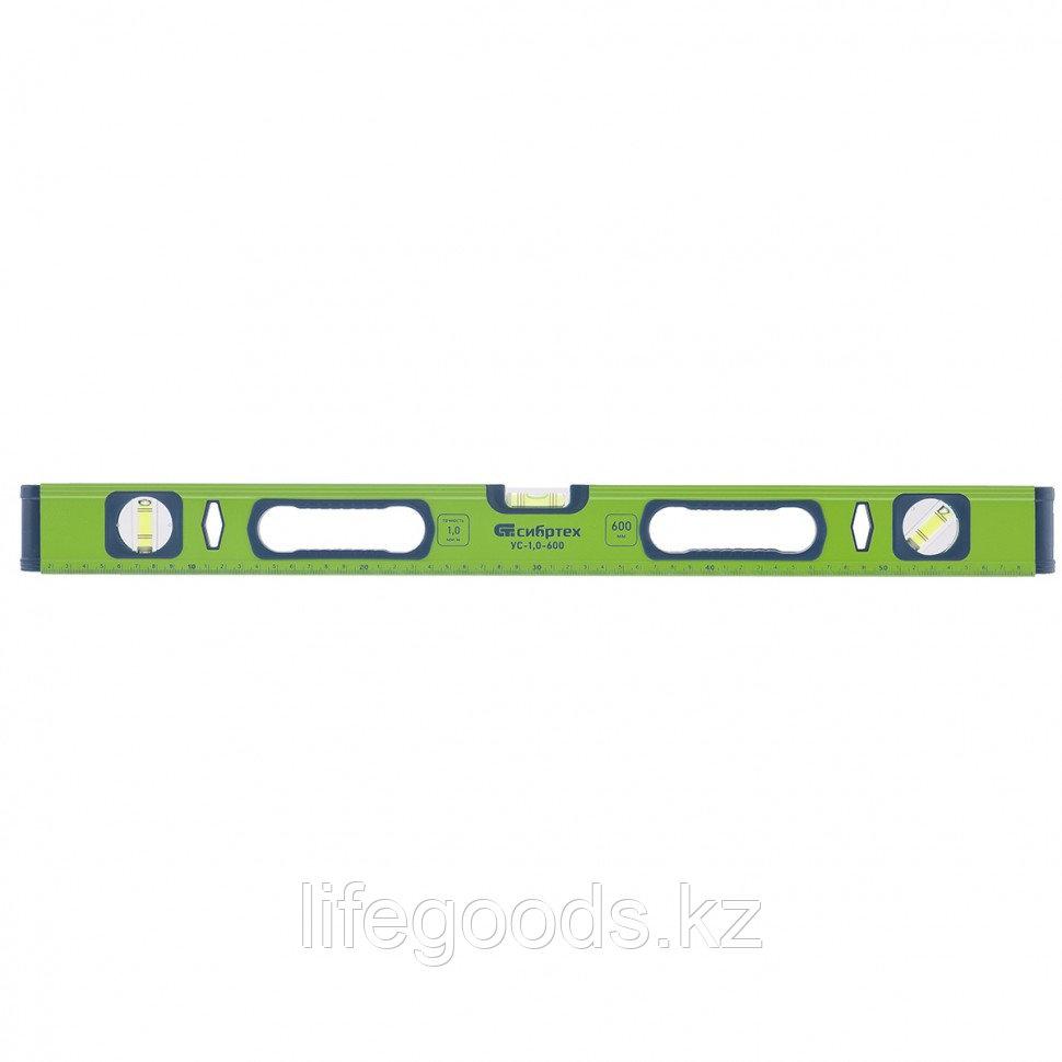 Уровень алюминиевый УС-1, 0-800, фрезерованный, 3 глазка, рукоятки, 800 мм Сибртех