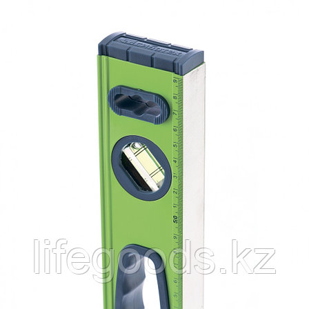 Уровень алюминиевый УСМ-0,5-800, фрезерованный, 3 глазка, магнитный, рукоятки, 800 мм Сибртех, фото 2