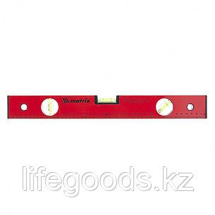 Уровень алюминиевый, 400 мм, 3 глазка, красный, линейка Matrix, фото 2