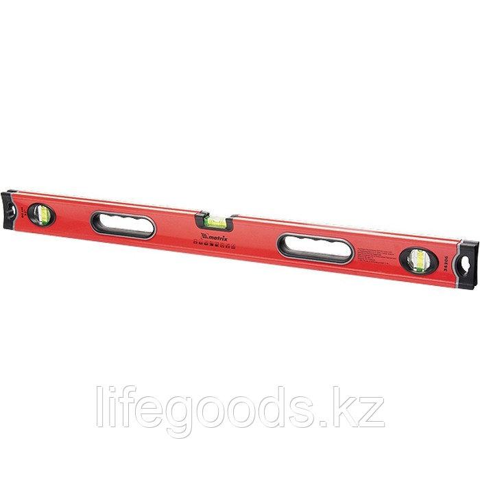 Уровень алюминиевый, 600 мм, 3 глазка, ударопрочные заглушки, двухкомпонентные ручки Matrix ProFI 34304