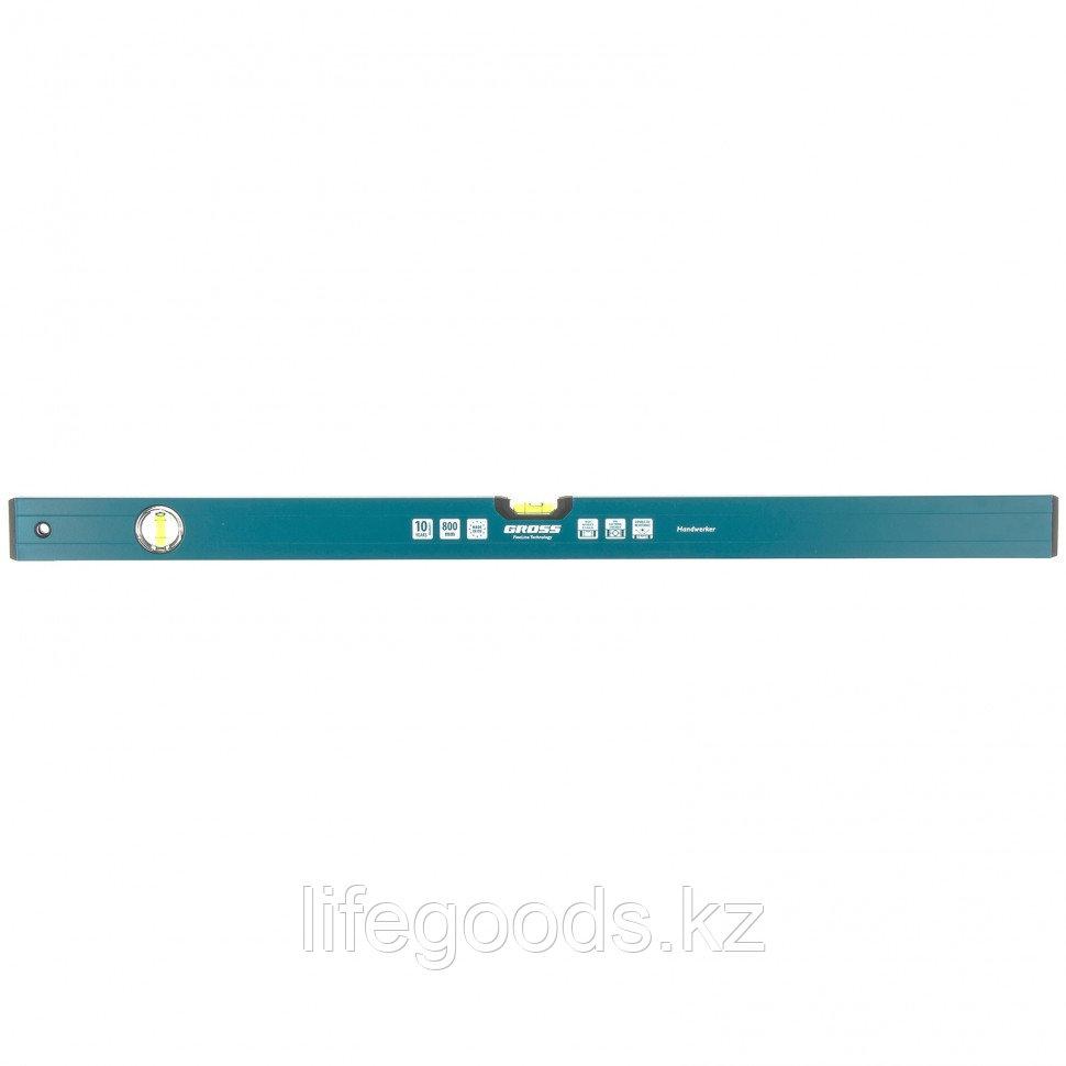Уровень алюминиевый, 800 мм, 2 глазка, HanD Werker Gross 33902