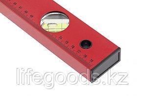 Уровень алюминиевый, 800 мм, 3 глазка, красный, линейка Matrix, фото 2