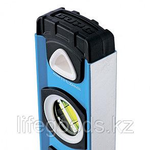 Уровень алюминиевый, двуручный, 600 мм, Профиль 1,6 мм, фрезеров, ударопрочные заглушки, 3 глазка Барс 34350, фото 2