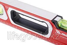 Уровень алюминиевый, магнит, фрезерованный, 3 глазка (1 зеркальный), двухкомпонентные рукоятки, 800 мм Matrix, фото 2