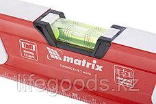 Уровень алюминиевый, магнит, фрезерованный, 3 глазка (1 зеркальный), двухкомпонентные рукоятки, 800 мм Matrix, фото 3