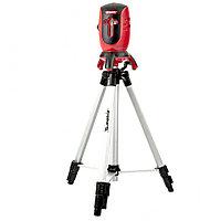Уровень лазерный ML01T, дальность 10 м, точность ± 0,5 мм / 1 м, Длинa волны 650 нм, проекция 1 вертикальная 1 горизонтальная плоскость, резьба под