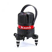 Уровень лазерный ML04P, 10м, ±0,3мм/1м, 635нм, 4 верт. 1 гор. пл, пыле-влаго. защ. корпус Matrix 35061