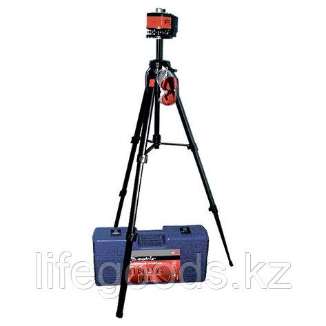 Уровень лазерный, 100 мм, штатив 1300 мм, крутящ. голова ротац, набор в пласт.кейсе Matrix Master 35031, фото 2