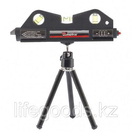 Уровень лазерный, 170 мм, 150 мм штатив, 3 глазка Matrix 35020, фото 2