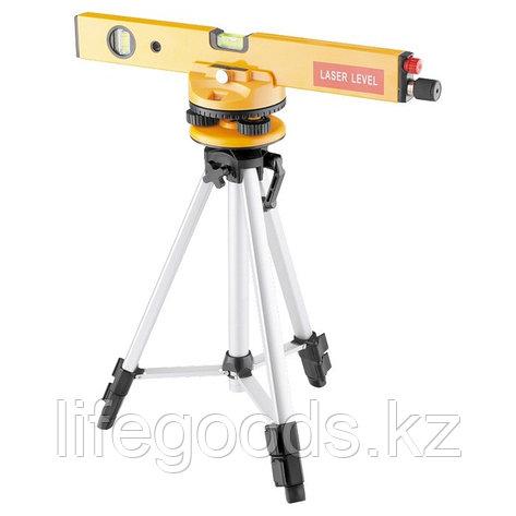 Уровень лазерный, 400 мм, 1050 мм штатив 3 глазка, набор (база, 2.линзы) пластиковый бокс Matrix 35029, фото 2