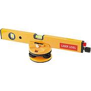 Уровень лазерный, 400 мм, 850 мм штатив, 3 глазка, (база, 2 линзы, очки) пластиковый бокс Matrix 35027