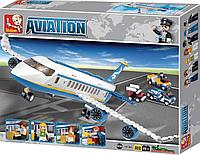 Конструктор Sluban Авиация: Аэробус , 493 деталей аналог лего Lego City Аэропорт