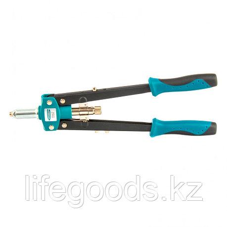 Заклепочник двуручный 420 мм, двухкомпонентные рукоятки, для заклепок 2,4-3,2-4,0-4,8 Gross 40407, фото 2