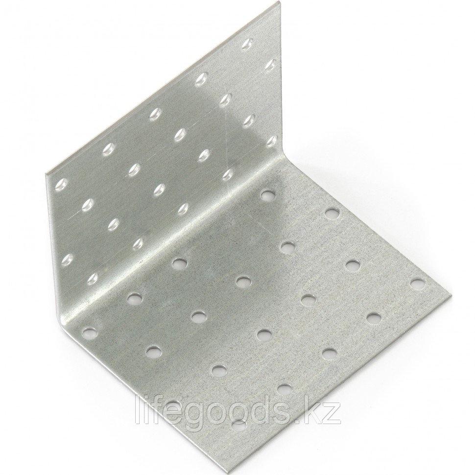 Крепежный уголок равносторонний 2 мм, KUR 80 х 80 х 100 мм Россия Сибртех 46427