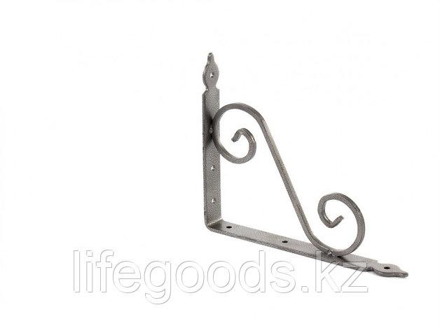 Кронштейн декоративный, 190 х 240 х 25 х 3.5 мм, темно-серый Сибртех 94062, фото 2