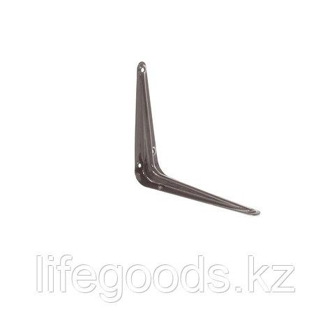 Кронштейн угловой с ребром, 125 х 150 мм, коричневый Сибртех 94023, фото 2